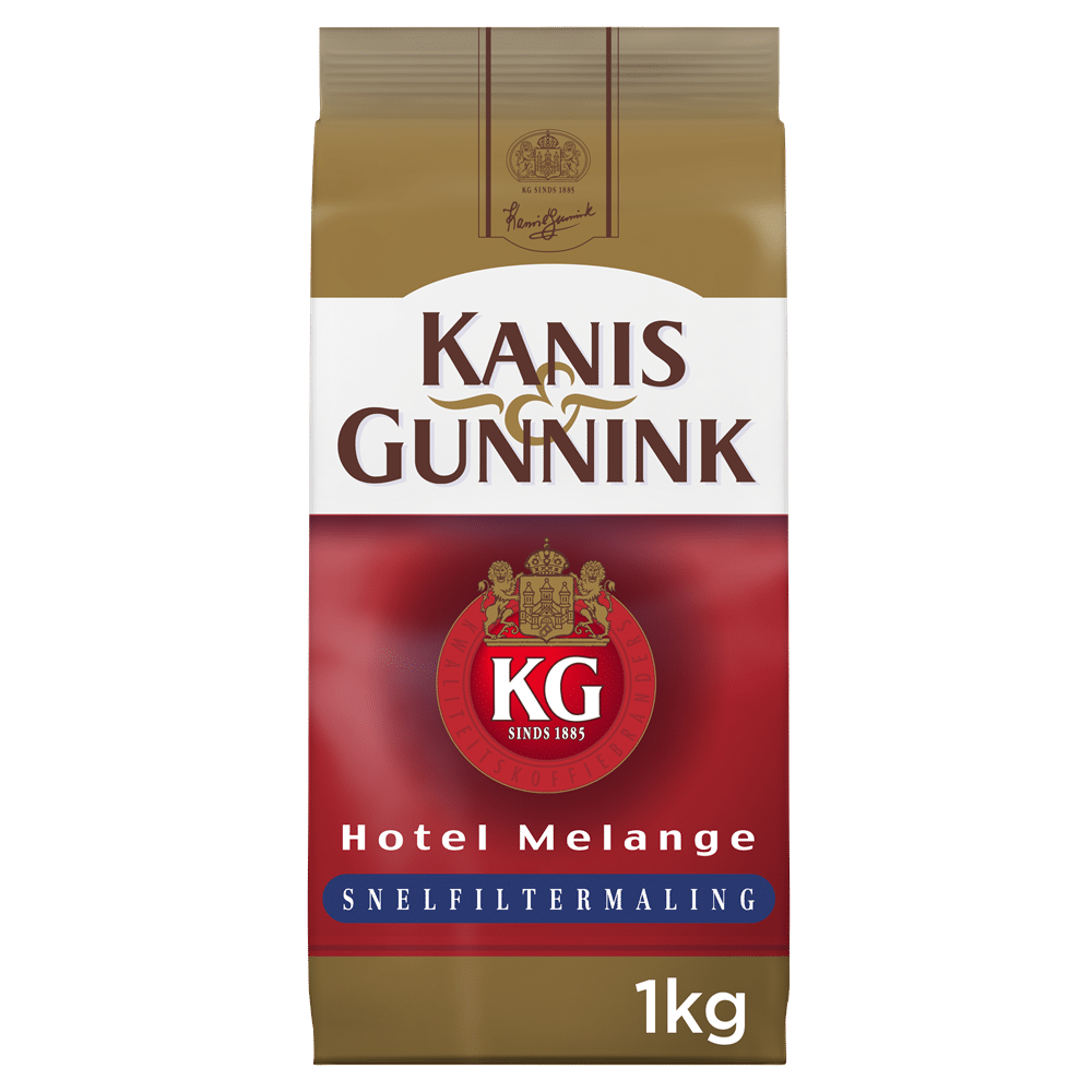 Afbeelding zak Kanis & Gunnink Melange Rood Koffie Snelfilter Maling