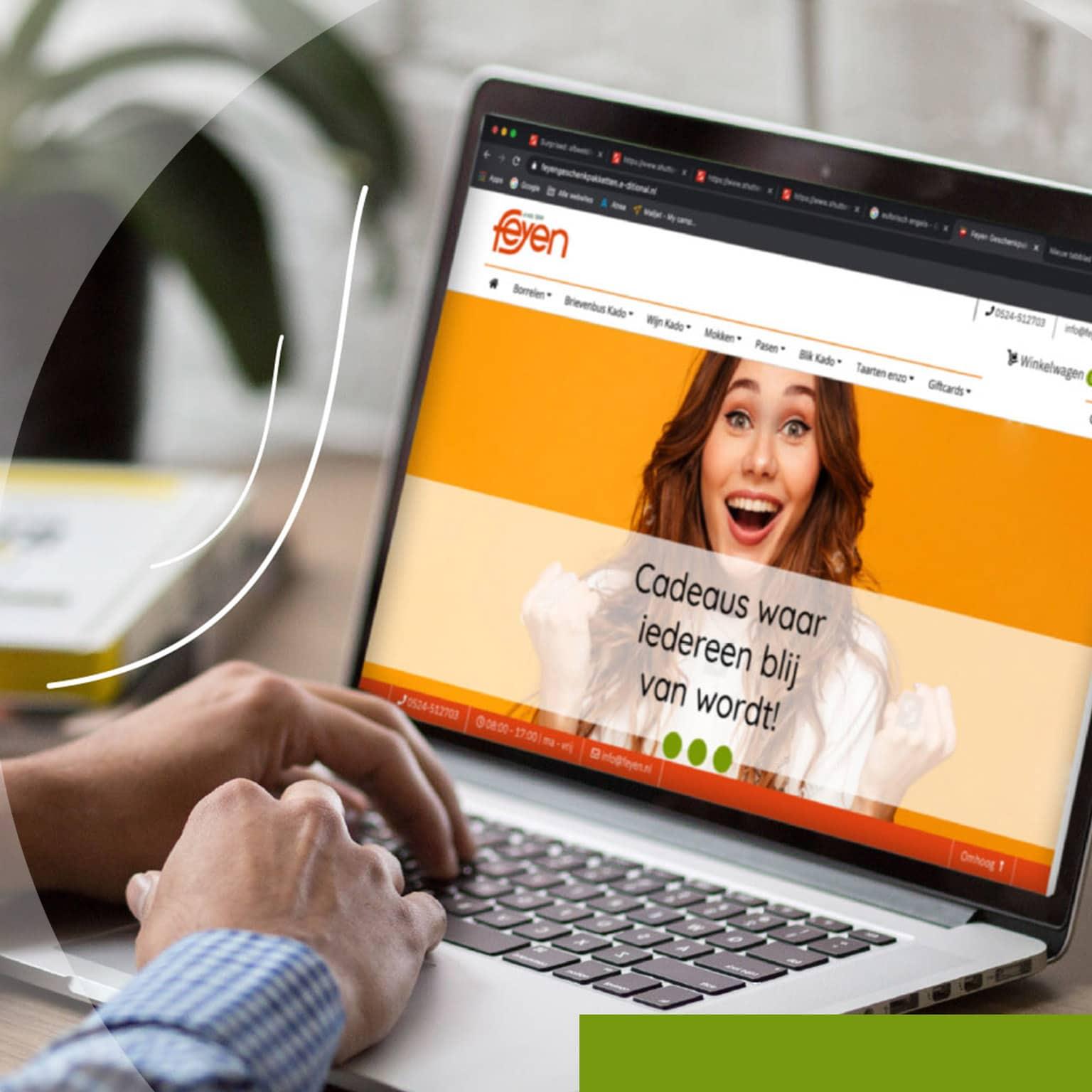 Geschenken.feyen.nl website