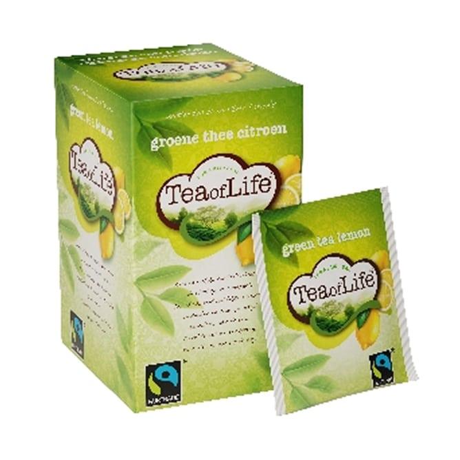 Afbeelding doosje Tea of Life groene thee citroen